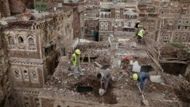 Photo of In Sana'a's UNESCO-listed old city houses collapse in heavy rain