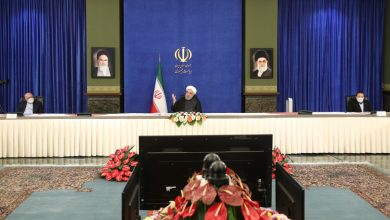 Photo of President Rouhani: We're doing all in our power to neutralize, eliminate US sanctions