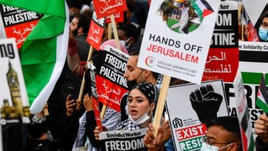 Photo of Muslims around the world protest against Israel